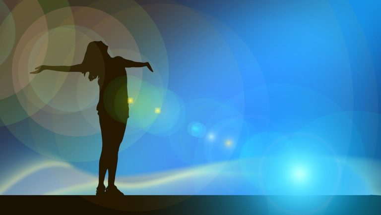 woman, silhouette, flare